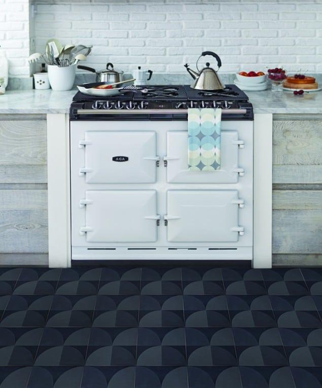 Lindsey Lang Scallop Stormgrey Encaustic Tiles