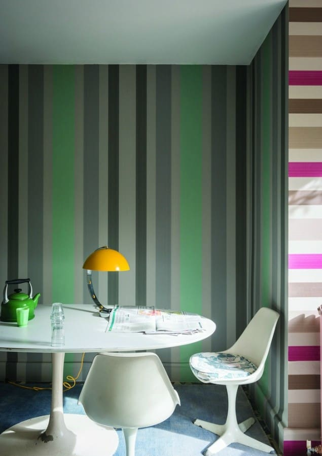 Farrow & Ball Chromatic Stripe ST 4202 & 4204 Wallpaper