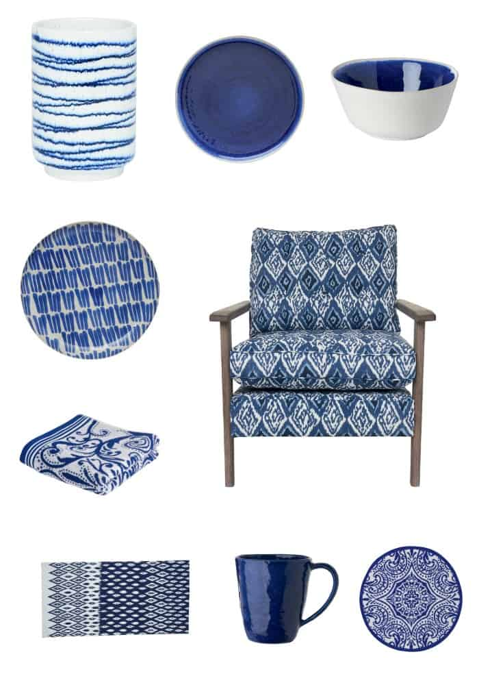 M&S SS14 Indigo Homeware