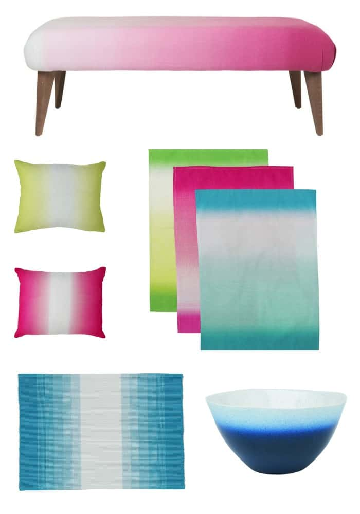 M&S SS14 Ombre Homware