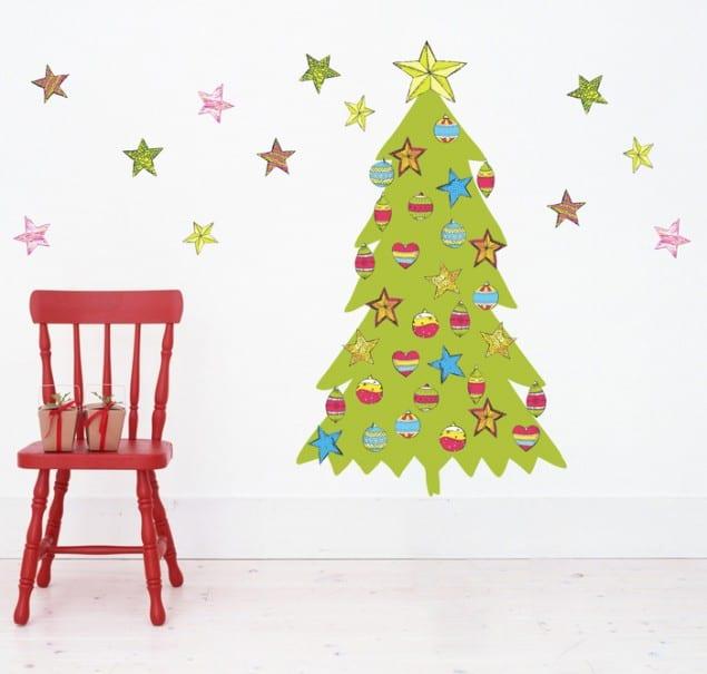 PIXERS adhesive Merry Christmas Tree Sticker