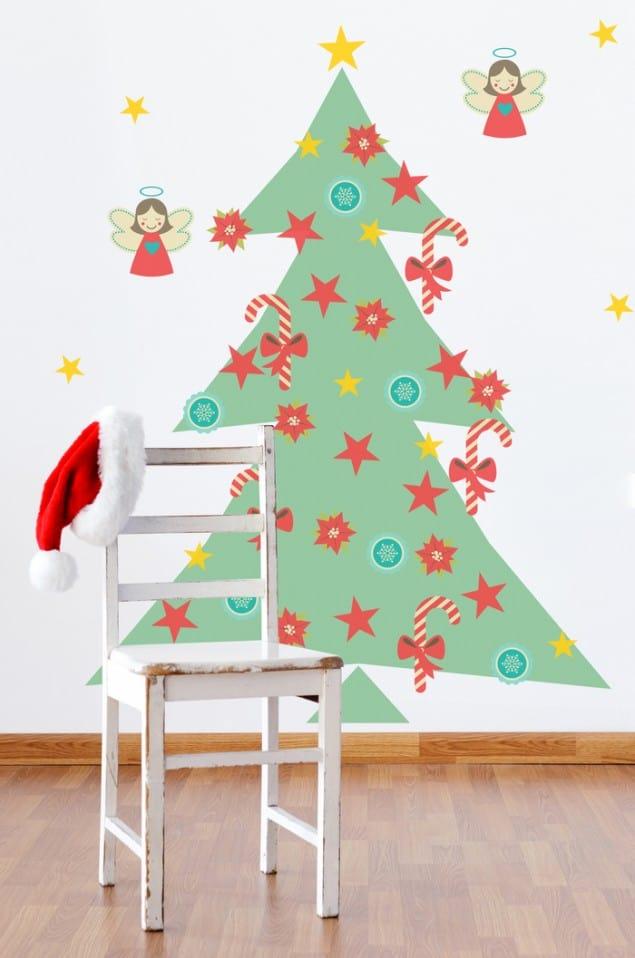 PIXERS adhesive Retro Christmas Tree sticker