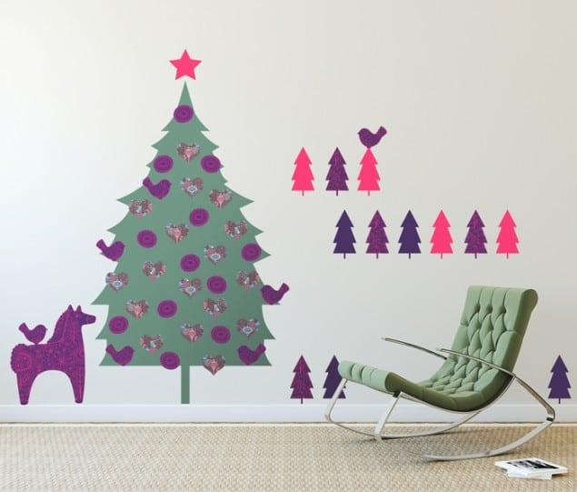 PIXERS adhesive folk Christmas tree sticker