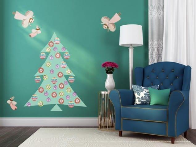 PIXERS adhesive Vintage Christmas Tree sticker