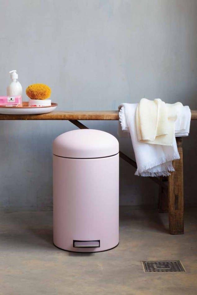 Brabantia Designed for Living 12L Mineral Pink Rubbish Bin