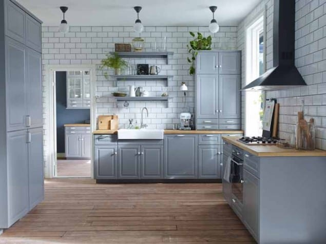 Grey Metod Kitchen by Ikea