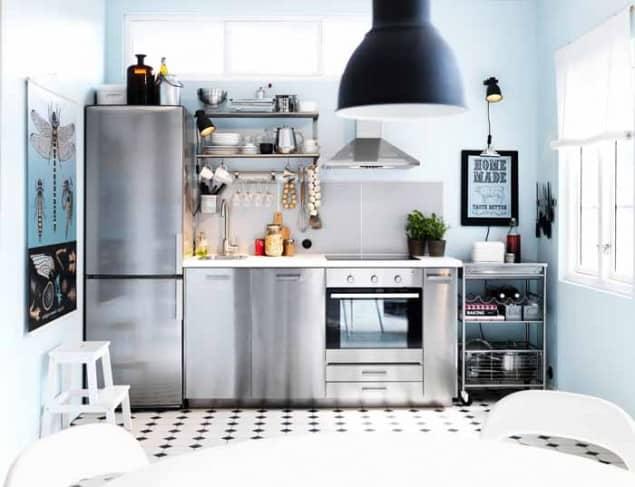 Stainless Steel Metod Kitchen by Ikea