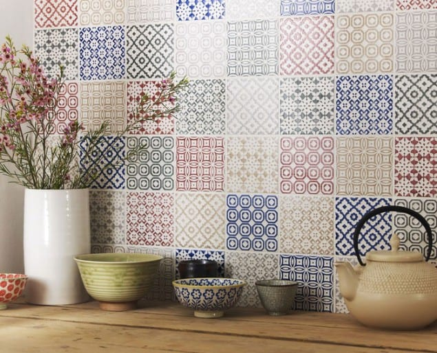 Patchwork tiles from Topps Tiles