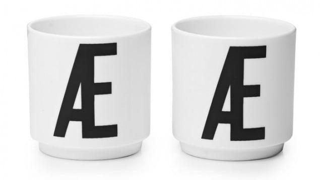 Design Letters & Friends Arne Jacobsen Vintage ABC Egg Cups  (Danish letters)