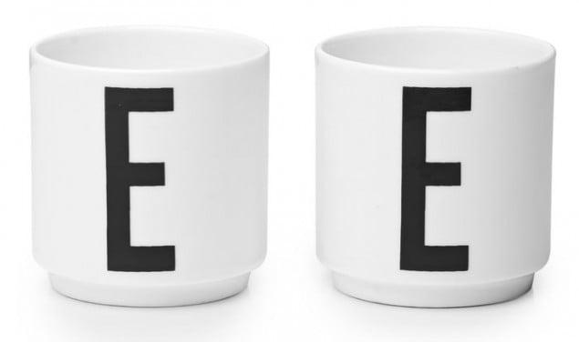 Design Letters & Friends Arne Jacobsen Vintage ABC Egg Cups (English E)