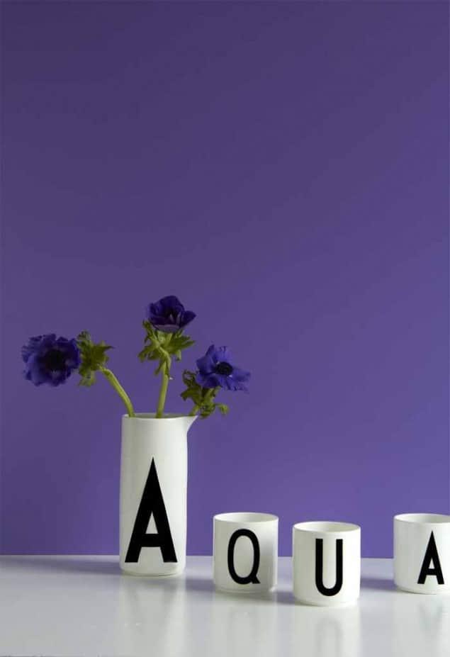 Design Letters vintage Arne Jacobsen typography Aqua jug & cups