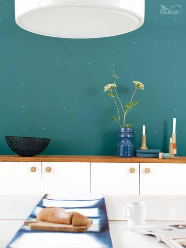 Dulux colour of the Year 2014 TEAL kitchen