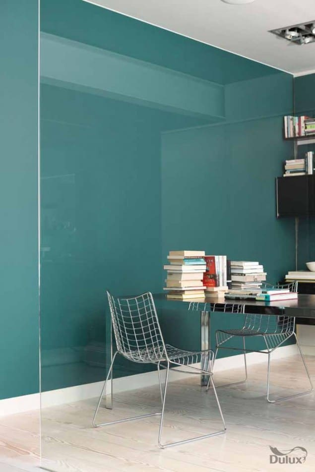 Dulux colour of the Year 2014 TEAL office