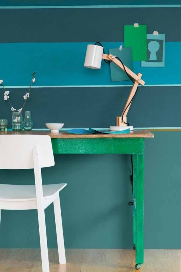 Dulux colour of the Year 2014 TEAL workspace
