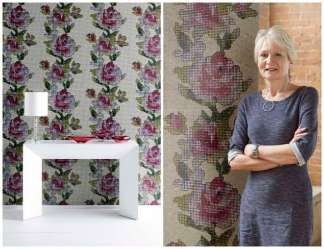 Caroline Davidson Tapestry Wallpaper New Wave Graham & Brown