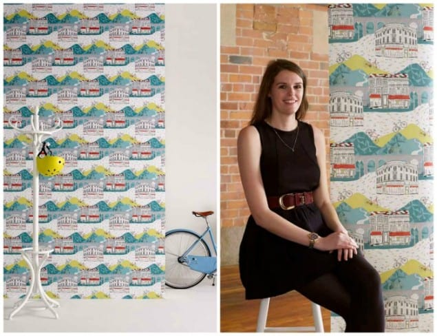 Jessica Hogarth Tour de Yorkshire Wallpaper New Wave Graham & Brown