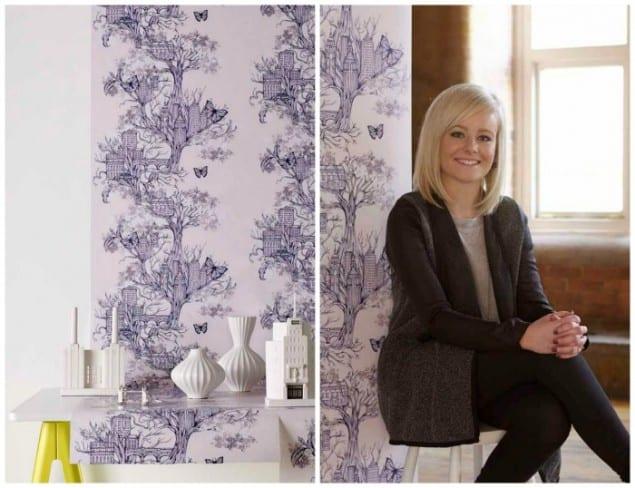 Louise Tiler Urban Tree Wallpaper New Wave Graham & Brown