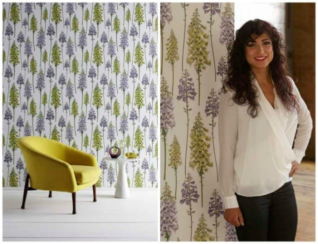 Lucinda Abell Foxglove Wallpaper New Wave Graham & Brown