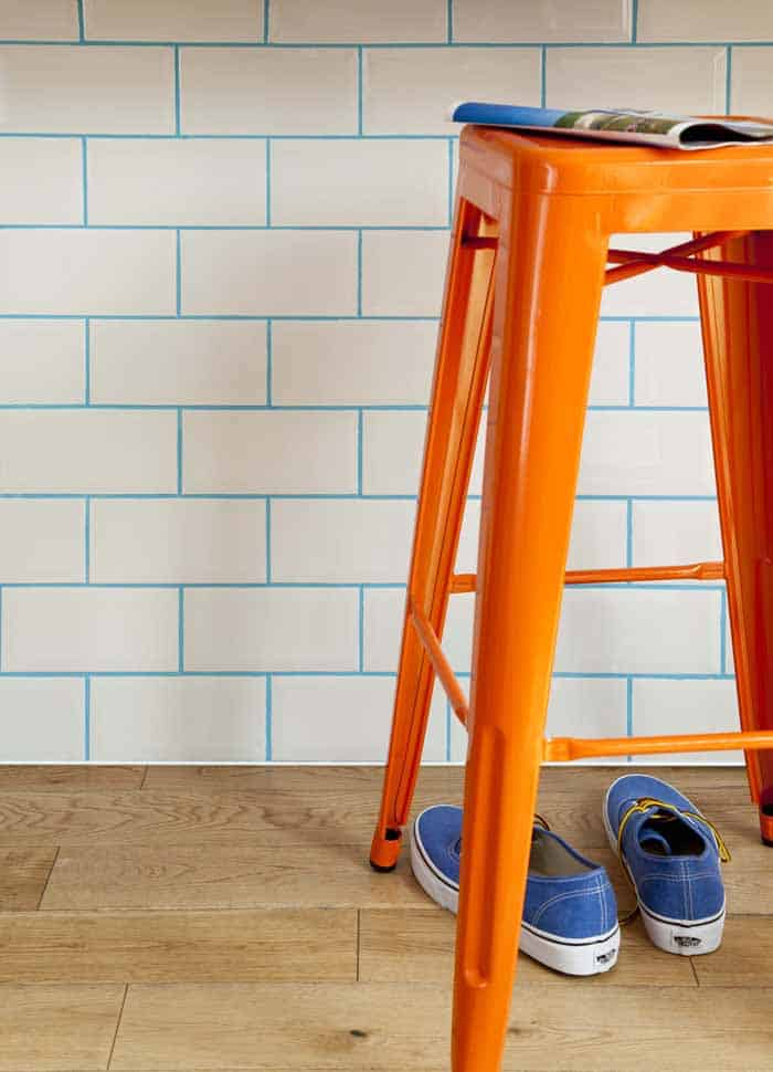 Updating Tiles With Coloured Grout The Design Sheppard