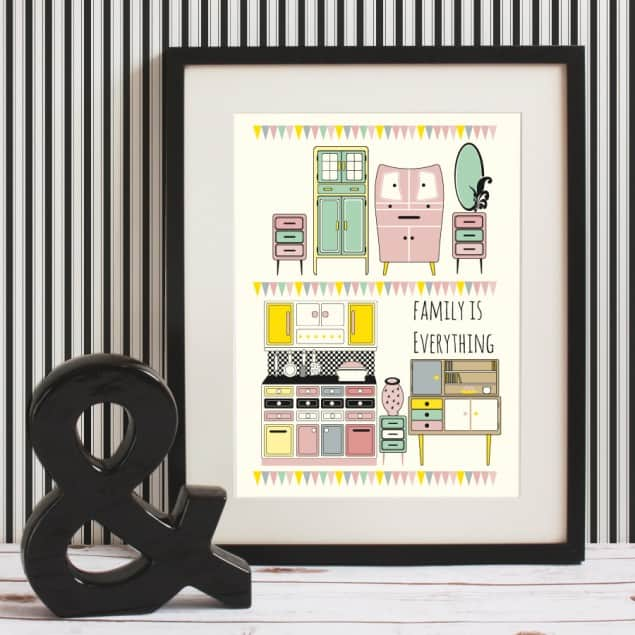 Mleko Furniture Family fine art giclee print