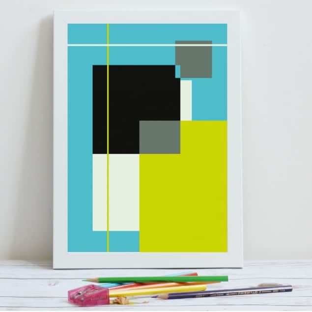 Mleko Rectangles fine art giclee print