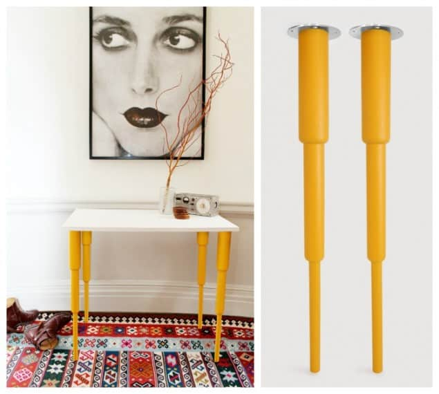 Pretty Pegs Table Legs - Alfred Yellow