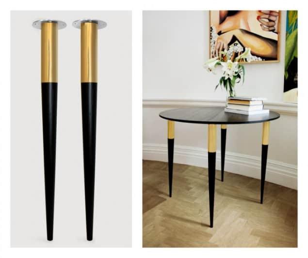 Pretty Pegs Table Legs - Estelle Black