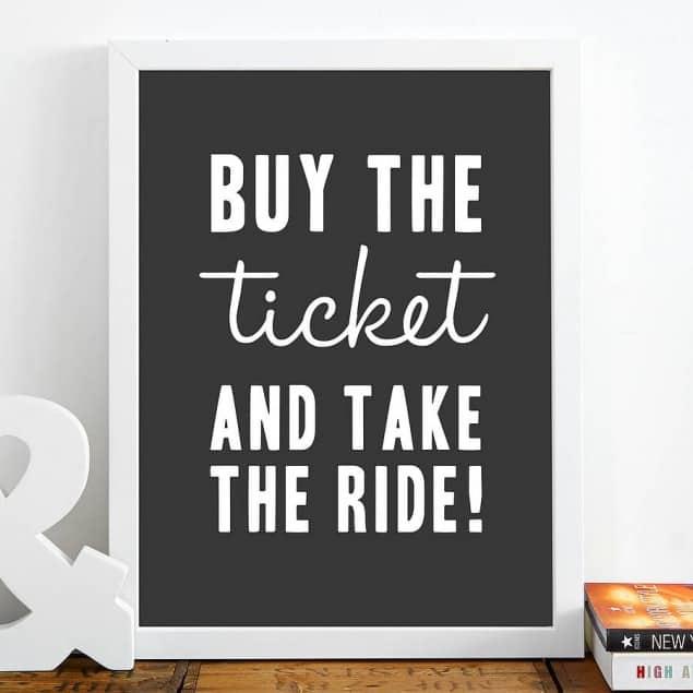 original buy the ticket fine art giclee print by Hey! Holla