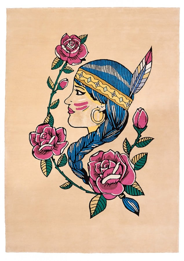 Headdress tattoo rug from Floor Story