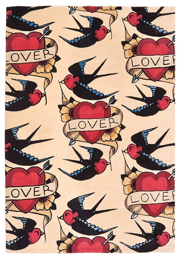 Lover tattoo rug from Floor Story