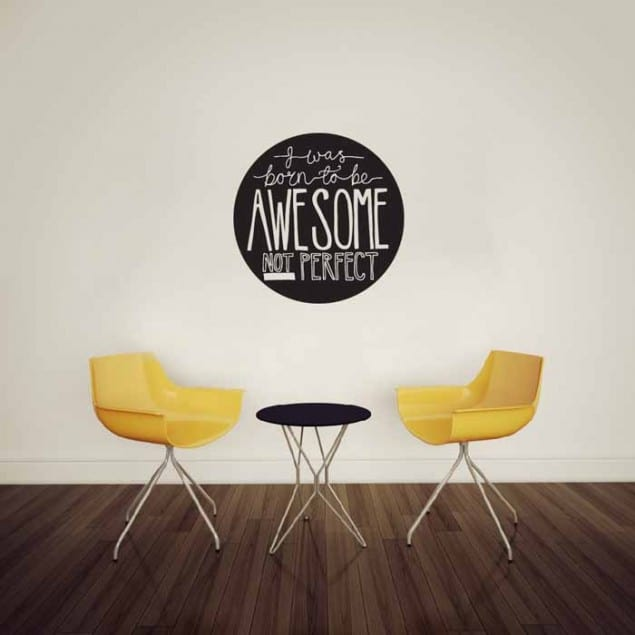 Vinyl Impression Wall Decal -Awesome