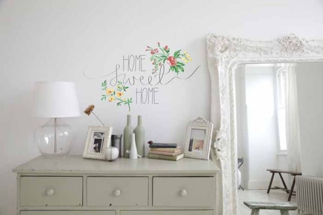 Vinyl Impression Wall Decal -Home-Sweet-Home