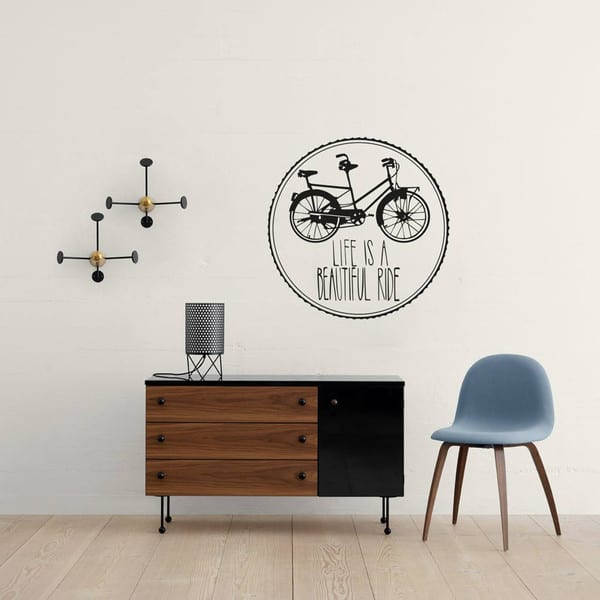 Vinyl Impression Wall Decal -Life is Beautiful