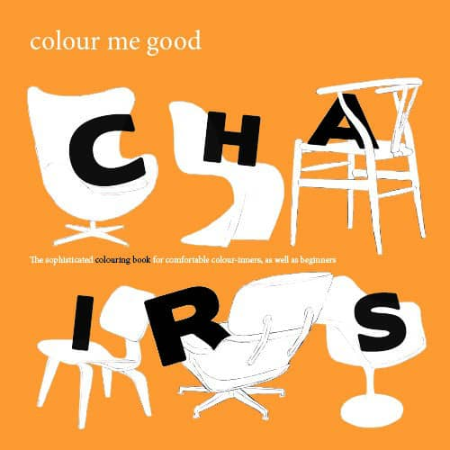Colour Me Good Chairs Colouring Book Cover