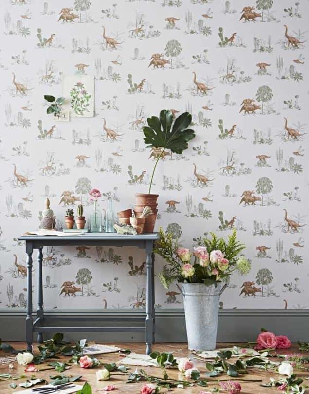 Sian Zeng Dino Pink Green Wallpaper2