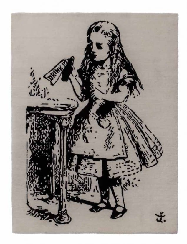 Alice in Wonderland Rug from Rug Maker
