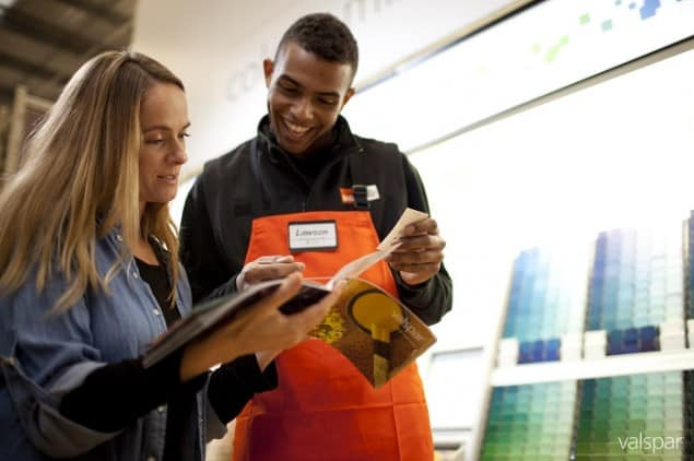 B&Q Staff happy to advise about using Valspar Paint