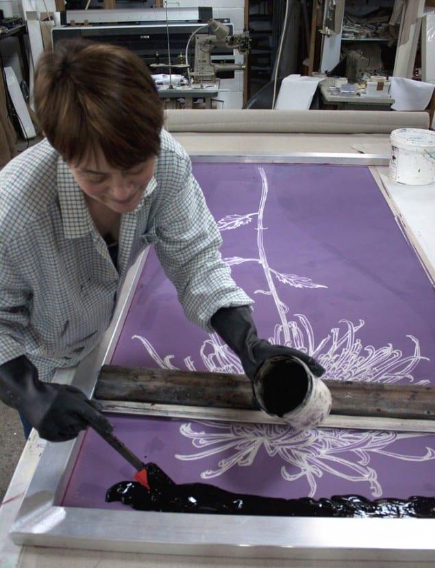 Sam Pickard at work in her studio