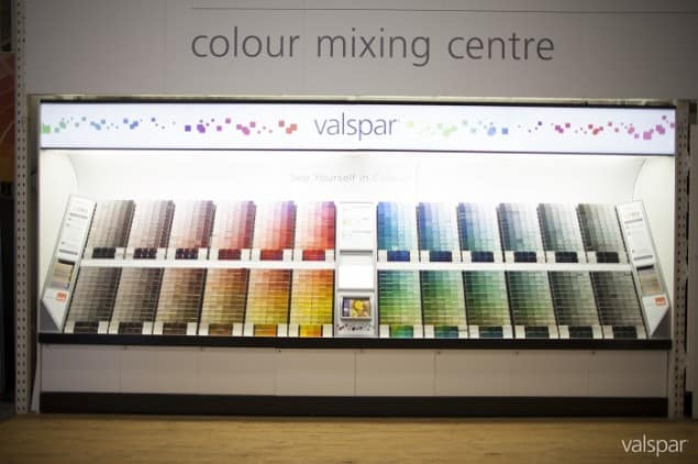 Valspar Paint Colour Mixing Centre