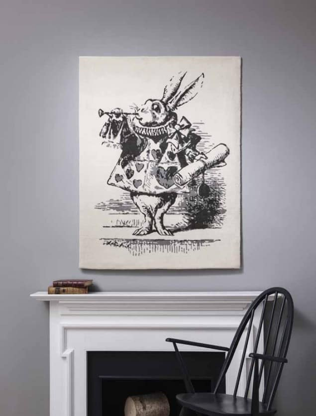 White Rabbit Rug from Rug Maker