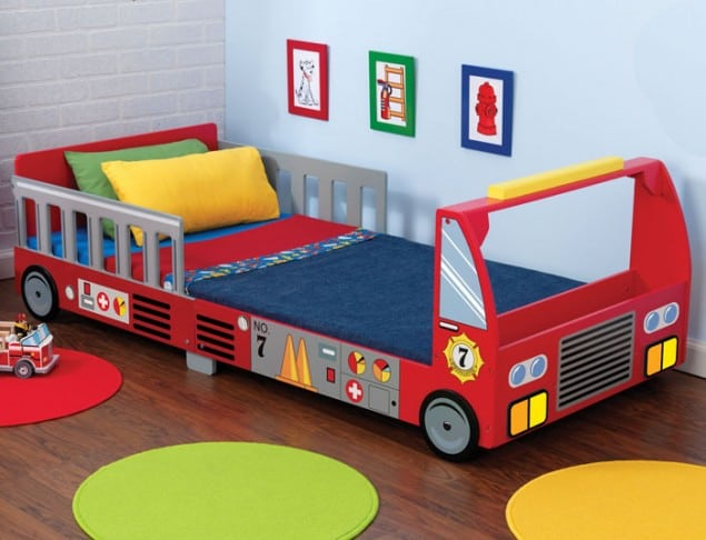 Fire Truck Toddlers Bed from Cuckooland