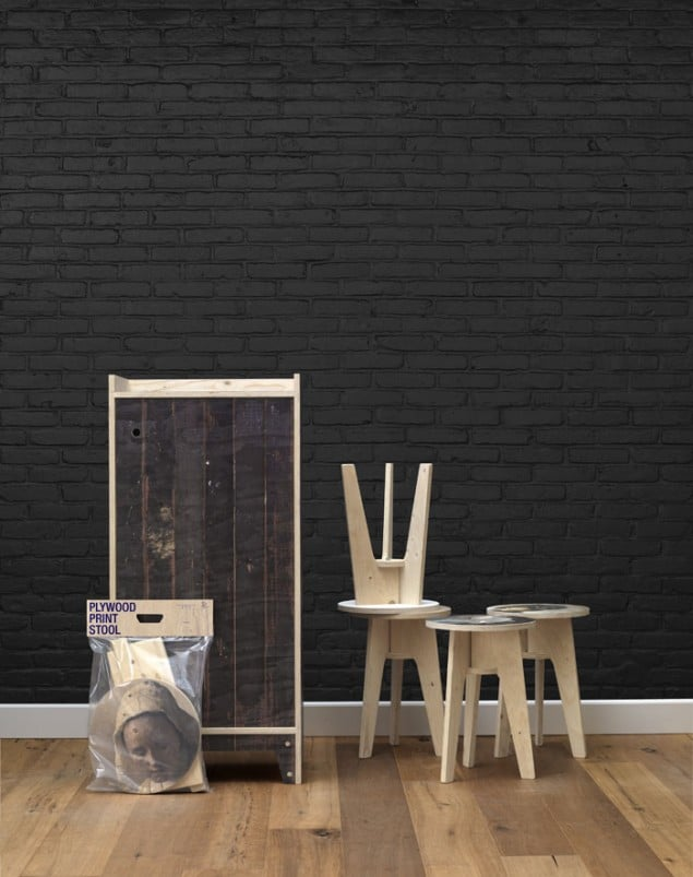 Piet Hein Eek Black Brick Wallpaper from NLXL