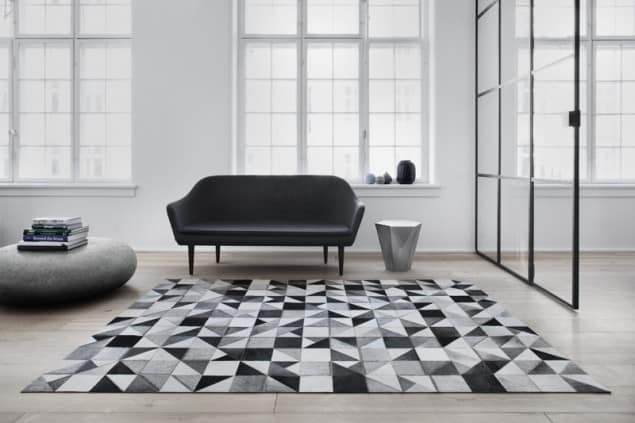 WovenGround Gallery rug by Linie Design - natural