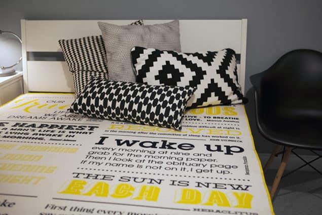 Eve Mattress Special Edition typographic design
