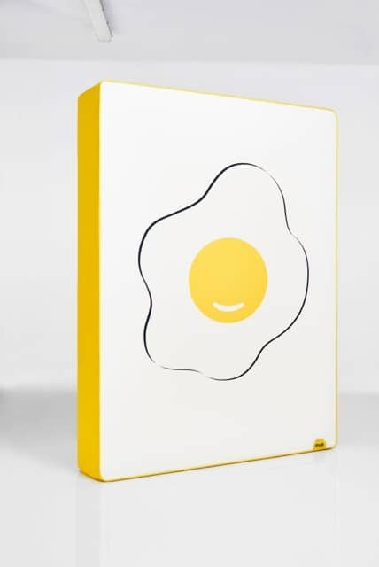Eve Mattress Special Edition fried egg design