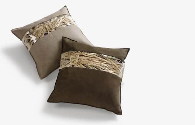 DesRes Straw Leather Cushions