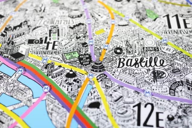 Jenni Sparks Paris Map Evermade Photo Bastille