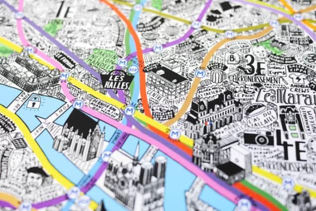 Jenni Sparks Paris Map Evermade Photo Centre Pompidou