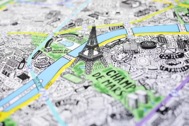 Jenni Sparks Paris Map Evermade Photo Eiffel Tower