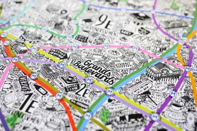 Jenni Sparks Paris Map Evermade Photo Grands Boulevards